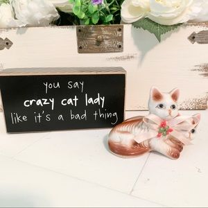Kitschy Vintage Cat Lady Bundle Decor